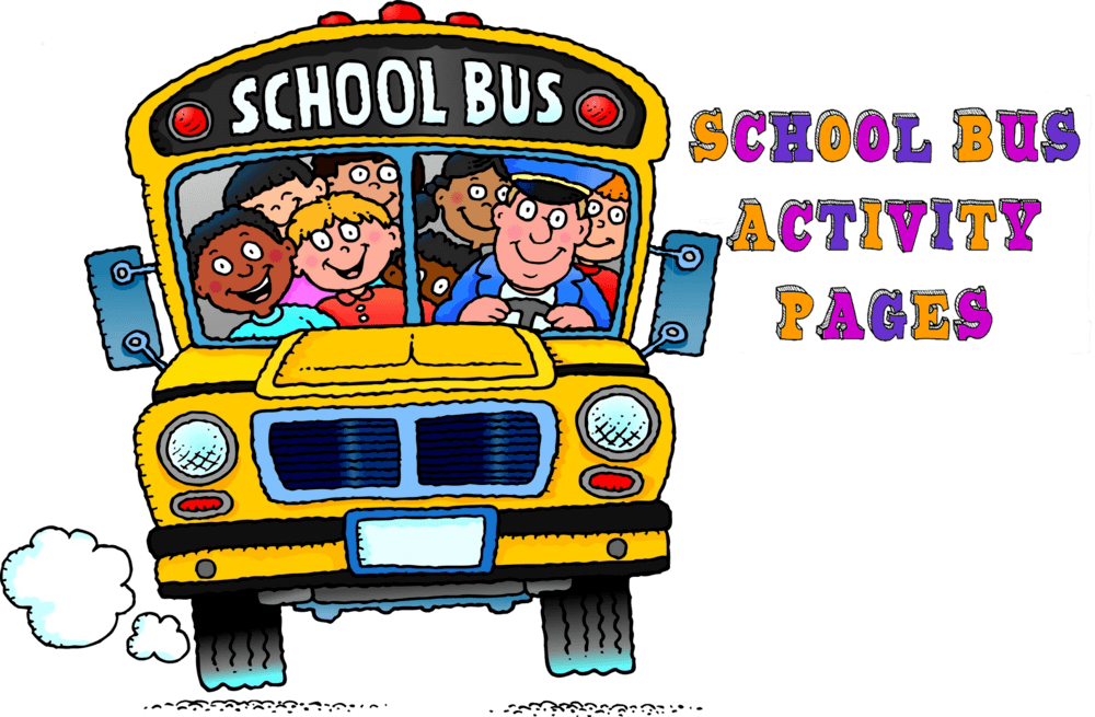 School Bus with Driver and kids inside
