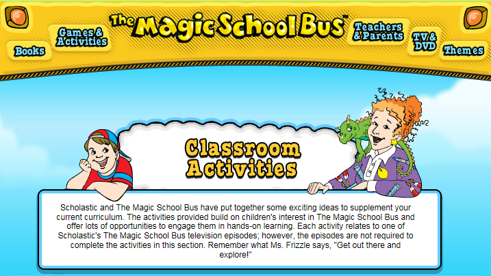 Magic School Bus website