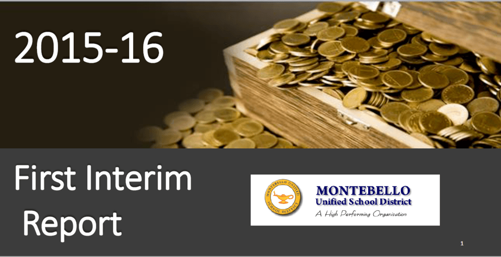 First Interim Report 2015-16