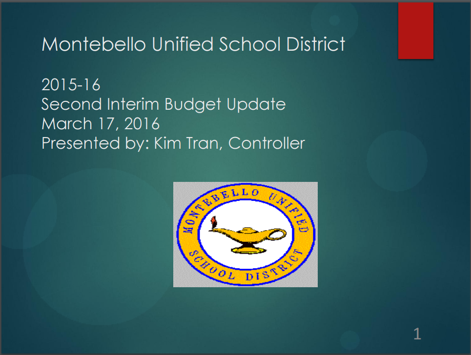 Second Interim Budget Update