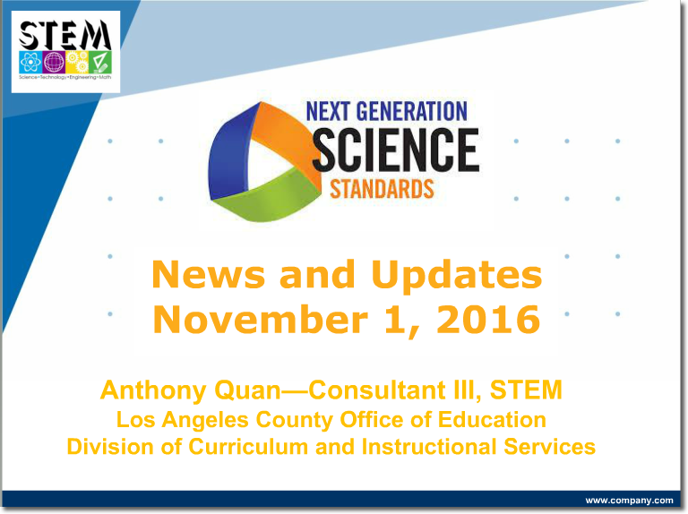 NGSS News and Updates