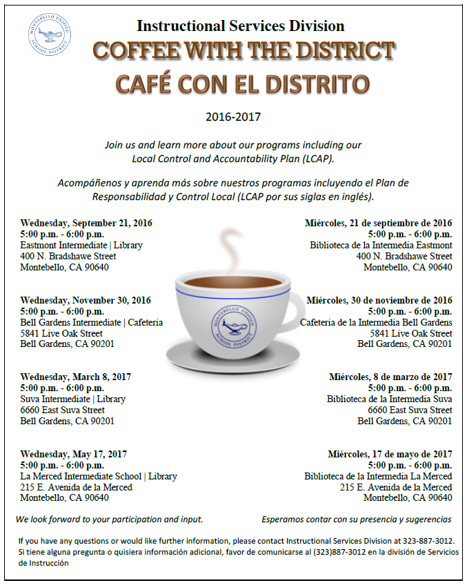 Coffee with the district