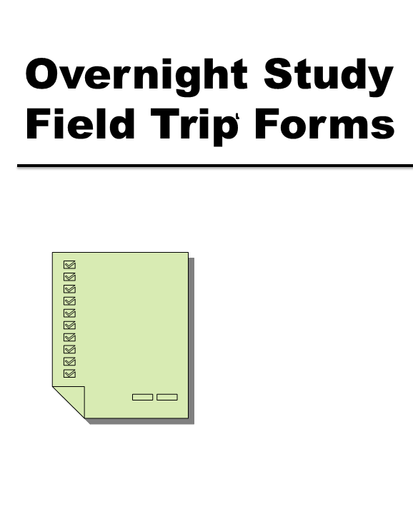 Overnight Study Field Trip Forms