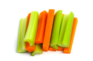 baby carrots and celery sticks